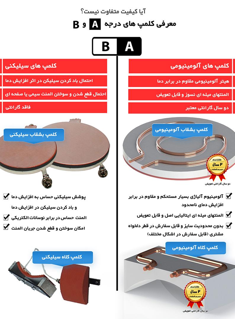 دستگاه چاپ حرارتی ۴کاره دستگاه چاپ حرارتی ۴کاره Clamp Boshghab 002